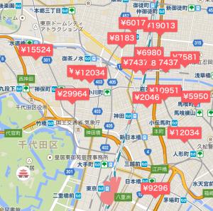 airbnb 東京 リスティング