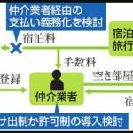 「民泊」に新ルール検討 トラブル多発、届け出制導入